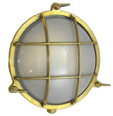 round cage light solid brass interior exterior by shiplights unlacquered traditional