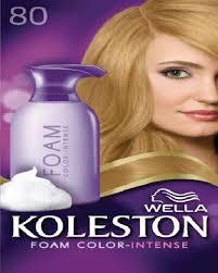 Koleston Foam Hair Color Chart Wella Koleston Foam Color Intense 8 0 Light Blonde 58 Ml
