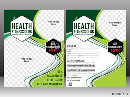 "Health Fitness Flyer Brochure & Magazine Cover Design"" Stock Image ..."