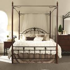 Wonderful Metal Canopy Bed Frame with Three Posts Wedgewood Canopy ...