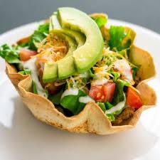 copycat pollo loco double en avocado taco salad