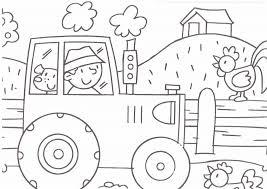 De Boer In De Tractor Boerderij Kleurplaten Farm Coloring Pages