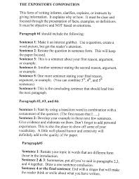 5 Paragraph Essay Template 4th Grade Examples Of A Five Paragraph Essay Examples Of Paragraph Essays