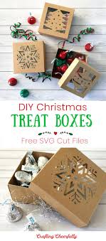 Free christmas vector download in ai, svg, eps and cdr. Diy Christmas Boxes With Free Cut File Crafting Cheerfully