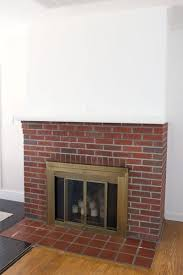 attractive painting a red brick fireplace littlebubble me ax95