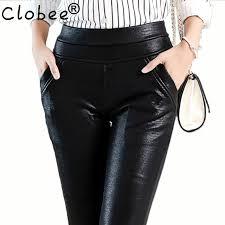 y crocodile pattern leather pants women plus size stretch faux leather trousers las female high waist