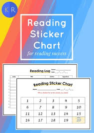 Reading Sticker Chart Reading Sticker Chart Set