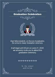 Free Dark Background Graduation Celebration Invitation Templates