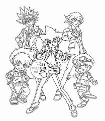 Beyblade Team Coloring Page For Kids