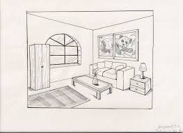 simple architectural sketches. Drawn Living Room Architectural Drawing 8 - 900 X 654 Simple Sketches