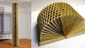 old phone book transformed to art