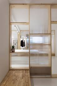 wood office partitions. Wood And Glass Partition With Shelves Office Partitions