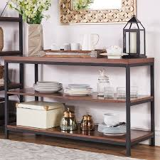 sofa table with storage. Somme Rustic Metal Frame Storage Sofa Table Drawers Ideas With