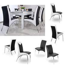 back home furniture. SET OF 6 DESIGNER LEATHER CHROME DINING CHAIRS HIGH BACK HOME FURNITURE Back Home Furniture