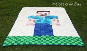 Minecraft Quilt - Steve is Finished! — Little Bits of Everything Inc. & Minecraft Quilt Adamdwight.com