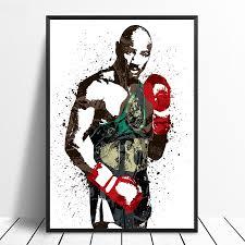 Марвин хаглер боксерская звезда спортивный <b>Холст</b> плакат ...