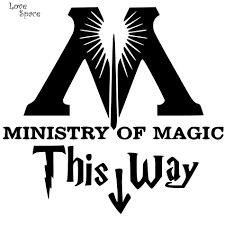 Ministry Of Magic This Way Vinyl Decal Harry Potter Toilet
