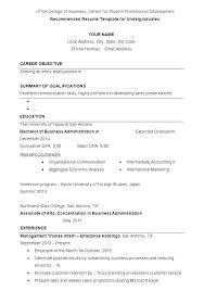 Undergraduate Student Resume Sample Example Curriculum Vitae For ...