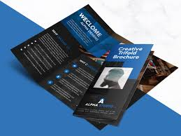 Free Graphic Design Brochure Templates Creative Agency Trifold Brochure Free Psd Template Digital