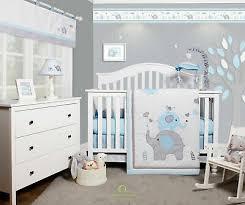 6 piece blue grey elephant baby boy