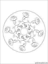 Mandala Met Rozen Voor Om Te Kleuren Gratis Kleurplaten