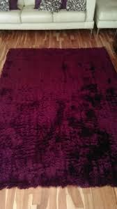 luxurious deep purple rug
