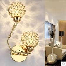 crystal wall light modern simple crystal gold silver creative led bedside bedroom wall lamp aisle wall lamps crystal wall sconces crystal wall lamp wall