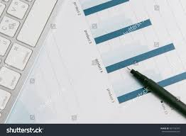 Growth Tables Charts Growth Tables Workplace Businessman Stock Photo Edit