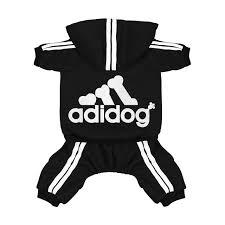 Scheppend Original Adidog Pet Clothes For Dog Cat Puppy Hoodies Coat Doggie Winter Sweatshirt Warm Sweater Dog Outfits Black Small
