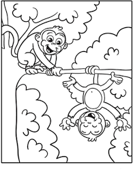 Printable Monkey Coloring Pages Printable Kids Colouring Pages Adult
