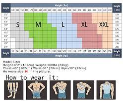 Roc Bodywear Size Chart Hanerdun Mens Slimming Body Shaper Vests Undershirt Abs