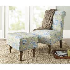 Blue Patterned Chair Fascinating 48 Spring Street Preston Floral Chair Blue Walmart