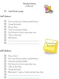 cleaning checklists free monday thru friday cleaning checklists thursday