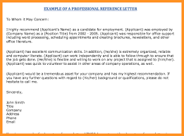 Professional References Letter 14 15 Professional References Example Southbeachcafesf Com