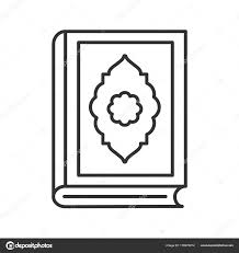 quran book linear icon thin line ilration ic religion koran contour symbol vector isolated outline drawing vector by bsd