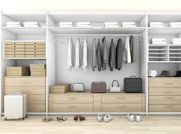 a walk in closet wall