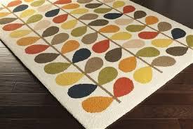 surya orla kiely white rectangle 6x9 ft wool carpet 54287 surya orla kiely area rug