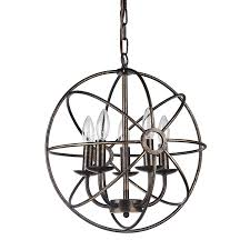 5 light antique bronze orb chandelier for amazing dining room lighting decor