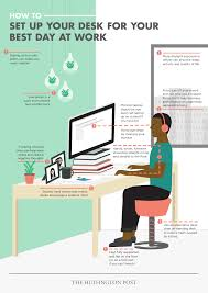 popular of ergonomic desk setup with how to set up your desk for your best day at work the huffington
