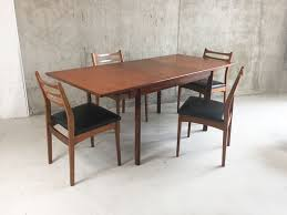 mid century expandable dining table. Mid Century White And Newton Teak Extendable Dining Table With Four Meredrew Chairs 1970s Expandable