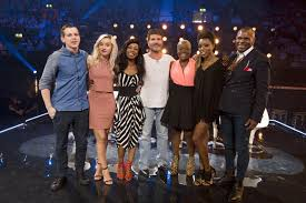 four chairs challenge x factor. simon cowell and his top 6 overs max stone, ebru, bupsi, jennifer phillips four chairs challenge x factor r