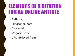 creating an essay using apa online magazine or newspaper article 17 elements of a citation