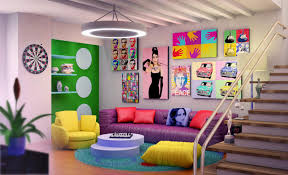 Peace Bedroom Decor Colorful And Fancy Living Room Designs