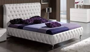 Modern Leather Bedroom Sets Modern Spain Made White Gloss And Leather Bedroom Set Arizona