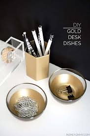 diy office decor. Fun DIY Ideas For Your Desk - Gold Dishes Cubicles, Teens Diy Office Decor