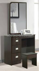 Wooden Dressing Table with Stool and Mirror