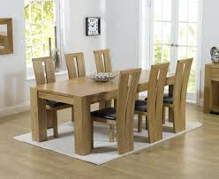 brilliant solid oak dining table and 6 chairs 5 piece room set oval chair pub solid oak dining room chairs decor