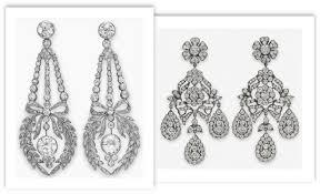 antique diamond chandelier earrings