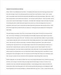 reflective writing samples personal reflective writing