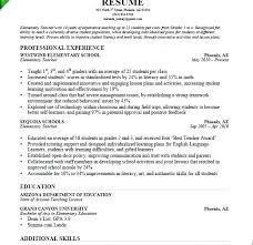 Resume Sample For Teaching Sample Teacher Resumes Mulhereskirstin Info